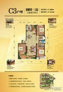 盛邦大都会3室2厅2卫189平方米户型图