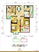 中环城市花园2室2厅1卫86平方米户型图