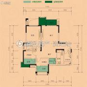 华西.九曲1号3室2厅2卫110平方米户型图