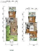 南方格林雅墅3室2厅3卫133平方米户型图