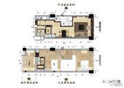理想西溪金座3室2厅2卫61平方米户型图