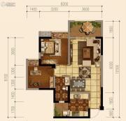 天府欧城2室2厅1卫64平方米户型图