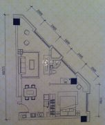 恒通・城尚城1室1厅1卫73平方米户型图