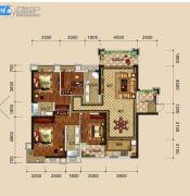 万盛・中央公馆4室2厅3卫162平方米户型图