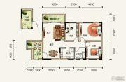 中铁逸都国际3室2厅1卫0平方米户型图