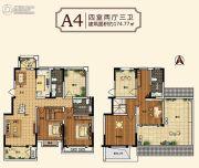 中建・柒号院4室2厅3卫174平方米户型图