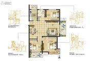 东润城3室2厅1卫113--116平方米户型图