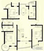 星河御城3室2厅2卫155平方米户型图