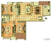 海天紫郡3室2厅2卫124平方米户型图