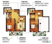 信达银郡2室2厅2卫115平方米户型图