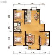 世百居・洪湖湾3室2厅1卫105平方米户型图