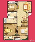 泰盈八千里3室2厅1卫117平方米户型图