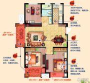 融侨观邸3室2厅1卫106平方米户型图