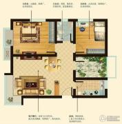 阳光首院2室2厅1卫80平方米户型图