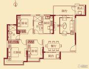 恒大翡翠华庭3室2厅2卫137平方米户型图
