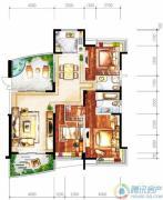 雅居乐十里花巷3室2厅2卫186平方米户型图