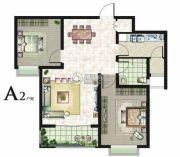 丽晶名邸2室2厅1卫82平方米户型图