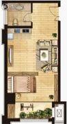 学院派1室1厅1卫66平方米户型图