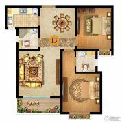 燕港美域2室2厅2卫87平方米户型图