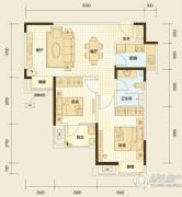 万科汉阳国际2室2厅1卫75平方米户型图