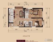 中广宜景湾・尚城2室2厅2卫108平方米户型图