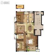 鸿�Z园3室2厅2卫113平方米户型图