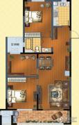 九洲花园缇香郡3室2厅1卫119平方米户型图