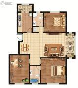 环龙湾3室2厅1卫135平方米户型图