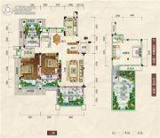 清江・月亮湾3室2厅2卫135平方米户型图
