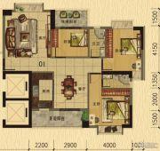 香樟美地3室2厅2卫117平方米户型图