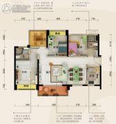 碧桂园・半岛1号4室2厅2卫107平方米户型图