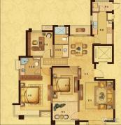风尚米兰3室2厅2卫128平方米户型图