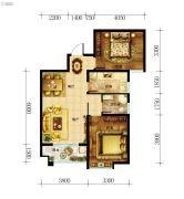 东都国际3室2厅1卫85平方米户型图