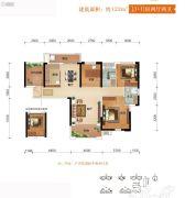 芙蓉万国城MOMA4室2厅2卫122平方米户型图