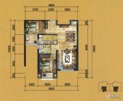 实力壹方城2室2厅2卫84--105平方米户型图