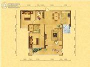 森嘉幸福里2室2厅1卫90平方米户型图