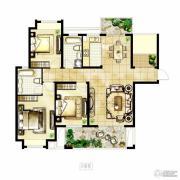 冠城大通棕榈湾3室2厅2卫132平方米户型图