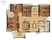 广州融创万达文化旅游城4室2厅2卫135平方米户型图