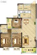 凯旋国际3室2厅2卫129平方米户型图