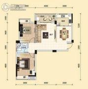 东湖国际城2室2厅1卫92平方米户型图