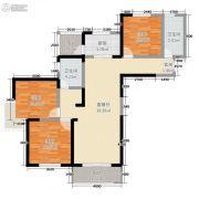 米兰广场3室2厅2卫94平方米户型图