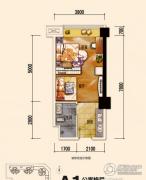 恒邦・时代青江二期1室1厅1卫39平方米户型图