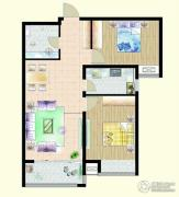 嘉宇枫尚2室2厅1卫94平方米户型图