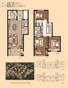 凯景又一城3室2厅3卫100平方米户型图