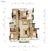 金科中建博翠长江4室2厅2卫104平方米户型图