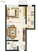 海鸿居然之家1室1厅1卫46平方米户型图