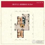 长禹星港湾2室1厅1卫0平方米户型图
