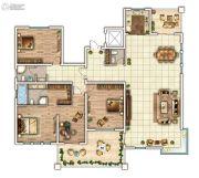 云顶蓝山3室2厅3卫271平方米户型图
