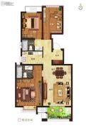 绿都悦府3室2厅2卫0平方米户型图