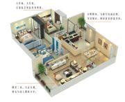 尚品爱琴海3室2厅2卫108平方米户型图